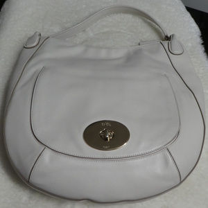 Authentic Coach Off-White Leather Hobo
